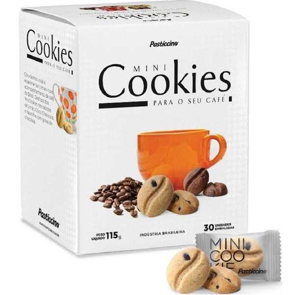 Mini Cookie Baunilha 3,5g CX 30 UN Pasticcino
