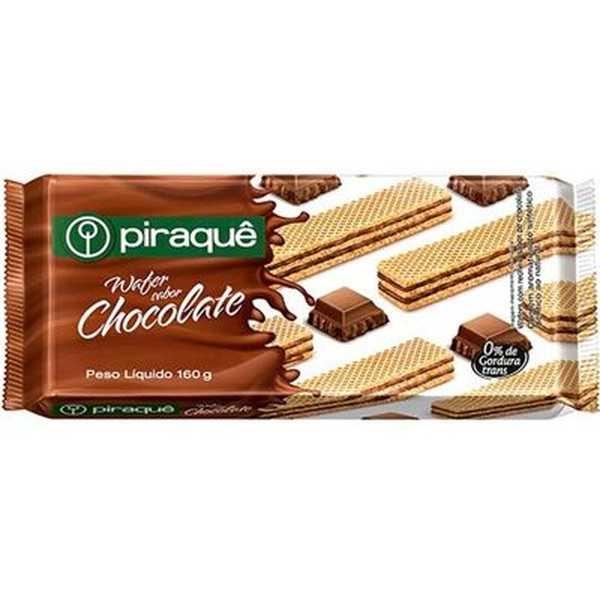 Biscoito Wafer Chocolate 160g 1 UN Piraquê