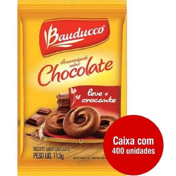Biscoito Amanteigado Chocolate Sachê 11,5g CX 400 UN Bauducco
