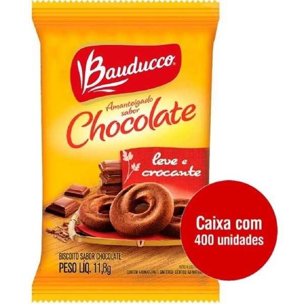 Biscoito Amanteigado Chocolate Sachê 11,8g CX 400 UN Bauducco