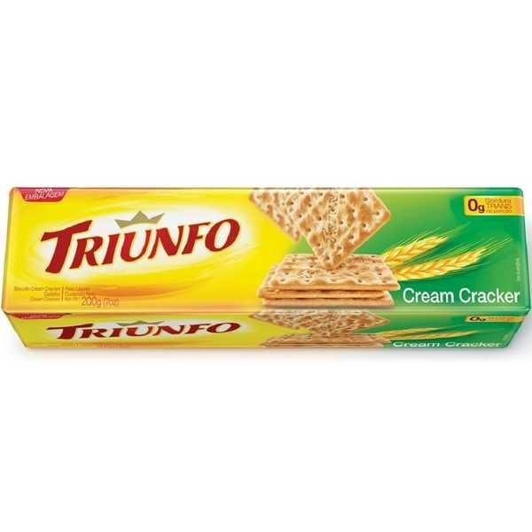 Biscoito Cream Cracker 200g 1 UN Triunfo