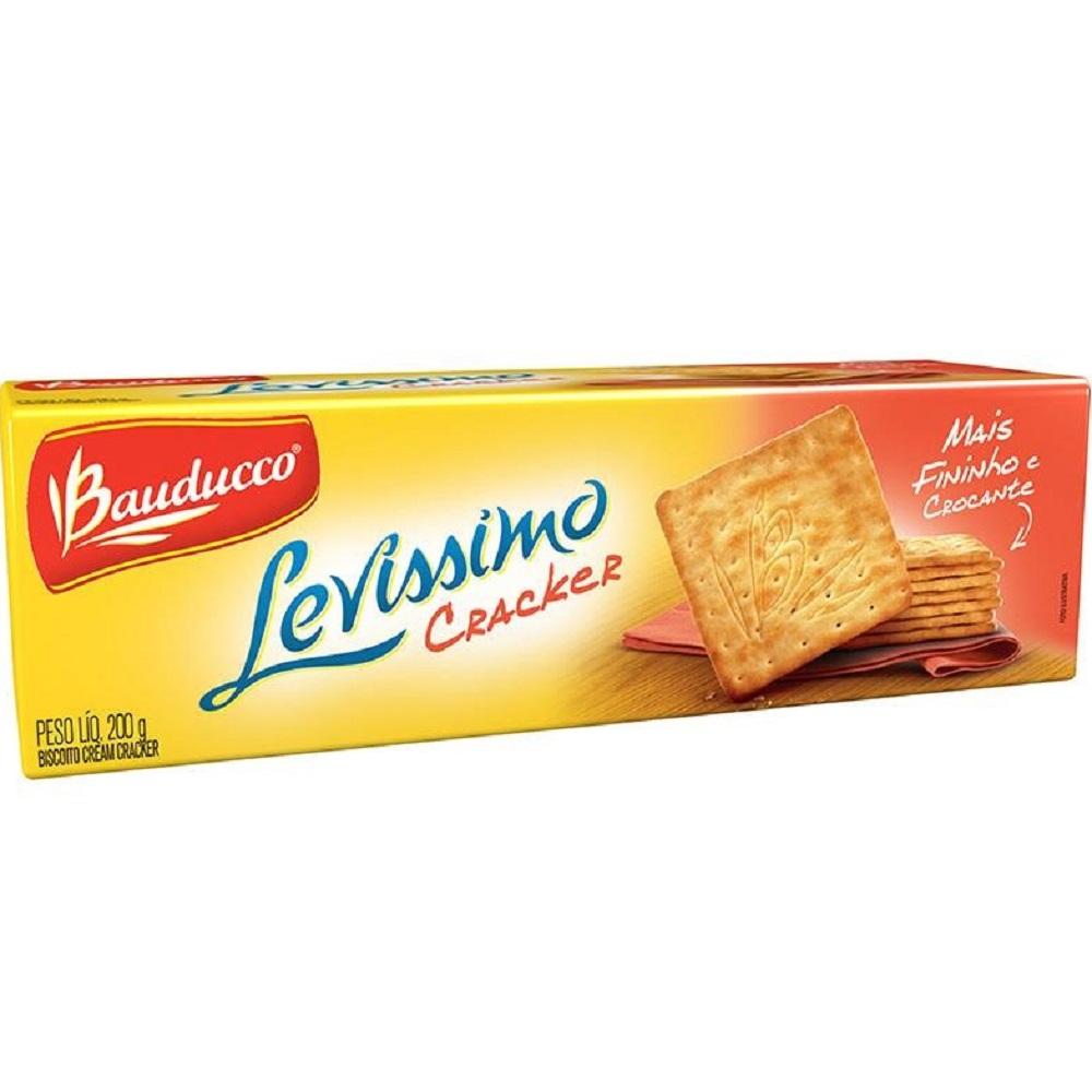 Biscoito Cream Cracker Levíssimo 200g 1 UN Bauducco