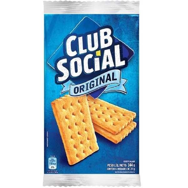 Biscoito Original 144g PT 6 UN Clube Social