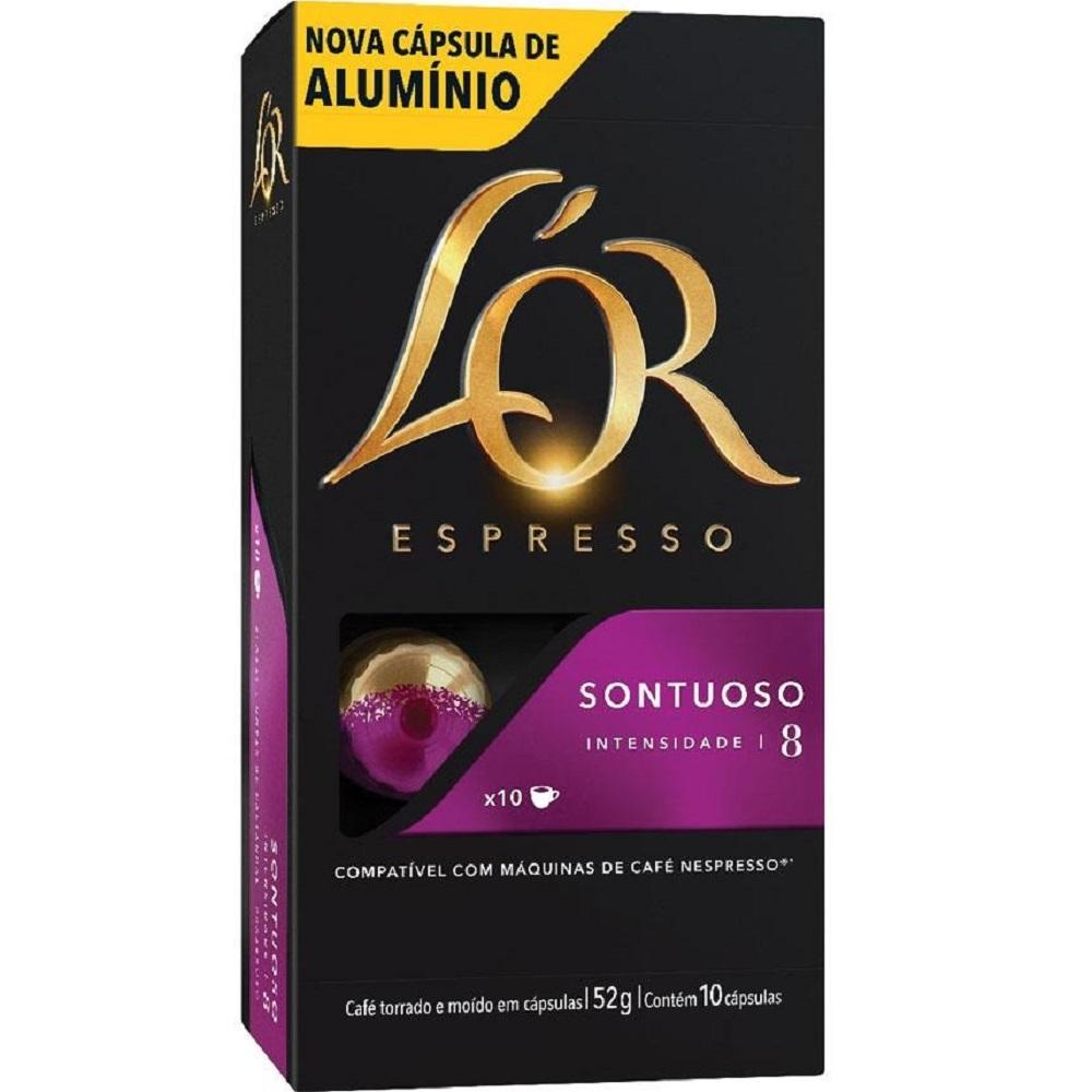 Cápsula de Café Espresso Sontuoso 5,2g CX 10 UN L'or