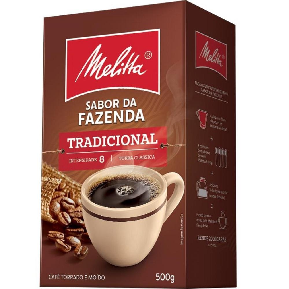 Café em Pó Sabor da Fazenda Tradicional 500g 1 UN Melitta