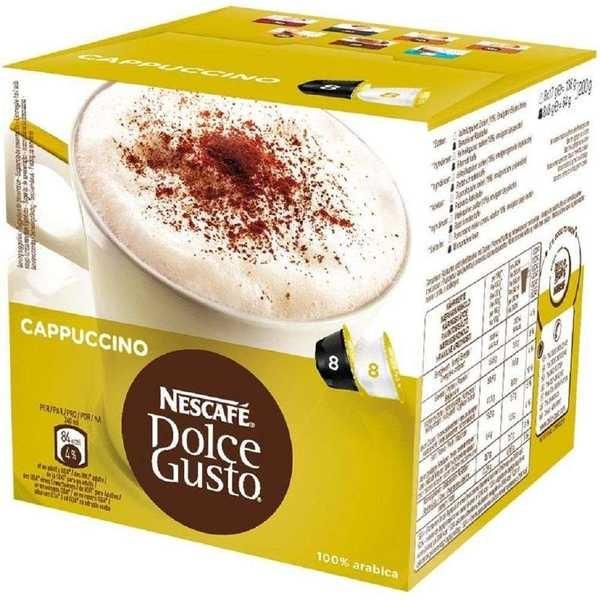Cápsula de Capuccino Dolce Gusto 12,5g CX 16 UN Nescafé