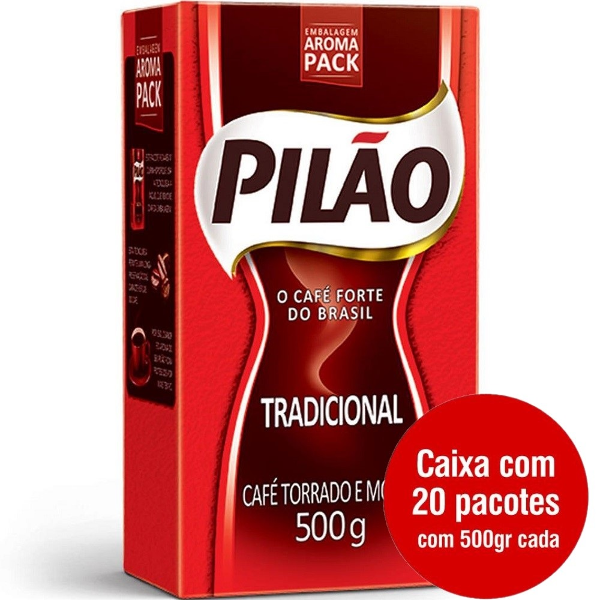 Café em Pó Tradicional 500g CX 20 PT Pilão