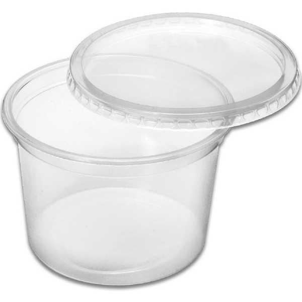 Kit Pote de Plástico com Tampa 380ml CX 400 UN Altacoppo