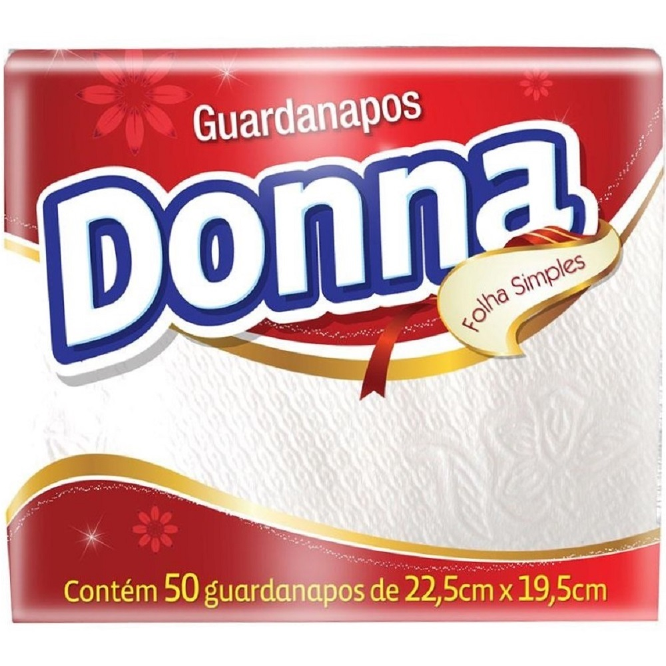 Guardanapo Folha Simples 22,5x19,5cm PT 50 FL Damapel