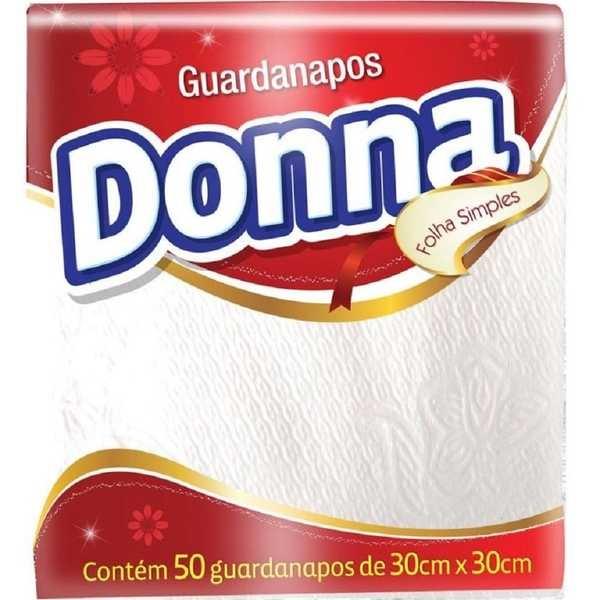 Guardanapo Folha Simples 30x30cm PT 50 FL Damapel
