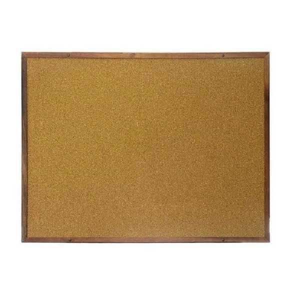 Quadro de Aviso Cortiça e Madeira Mogno 40x60cm 1 UN Board Net