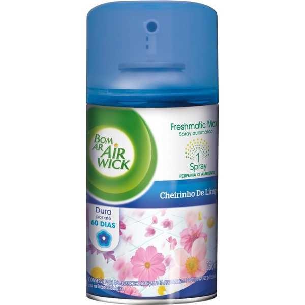 Odorizador de Ambiente 250ml Refil Cheirinho de Limpeza 1 UN Air Wick