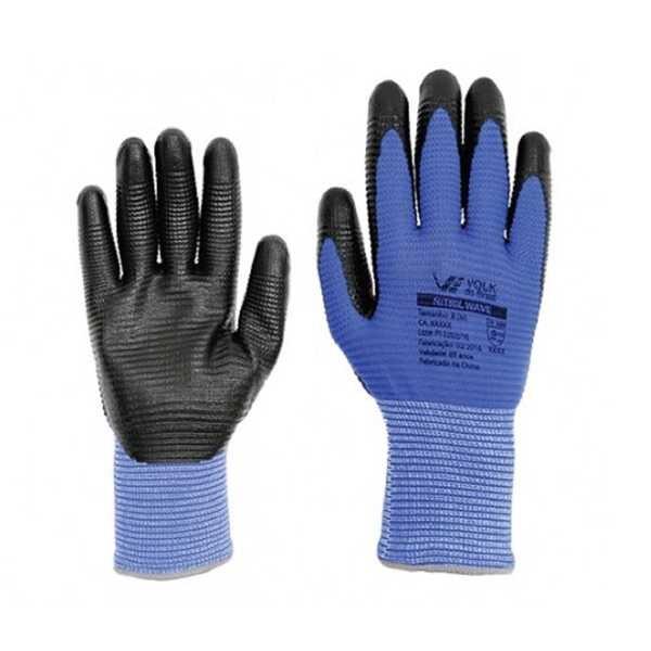 Luva Nitril Wave G Preto e Azul CA 38932 1 Par Volk