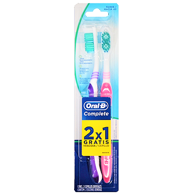 Escova Dental Complete Suave Macia 2 UN Oral-B
