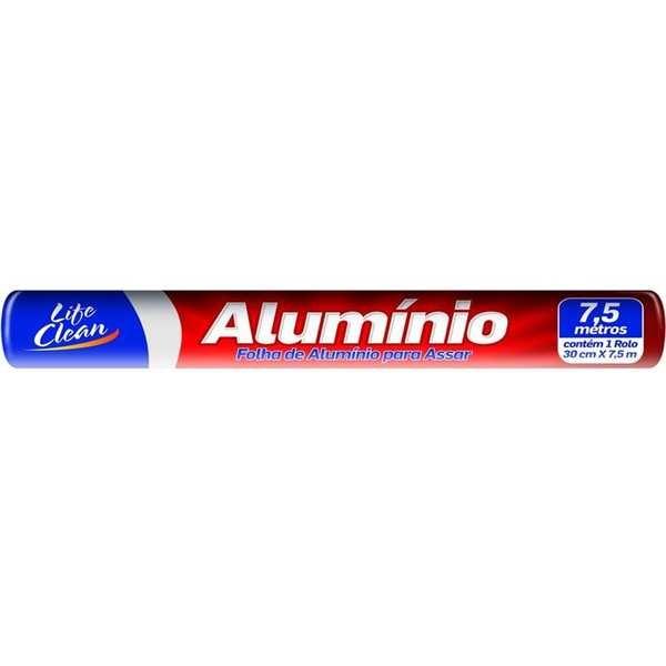 Papel Alumínio 30cm x 7,5m 1 UN Life Clean