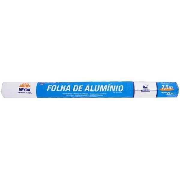 Papel Alumínio 45cm x 7,5m 1 UN Wyda