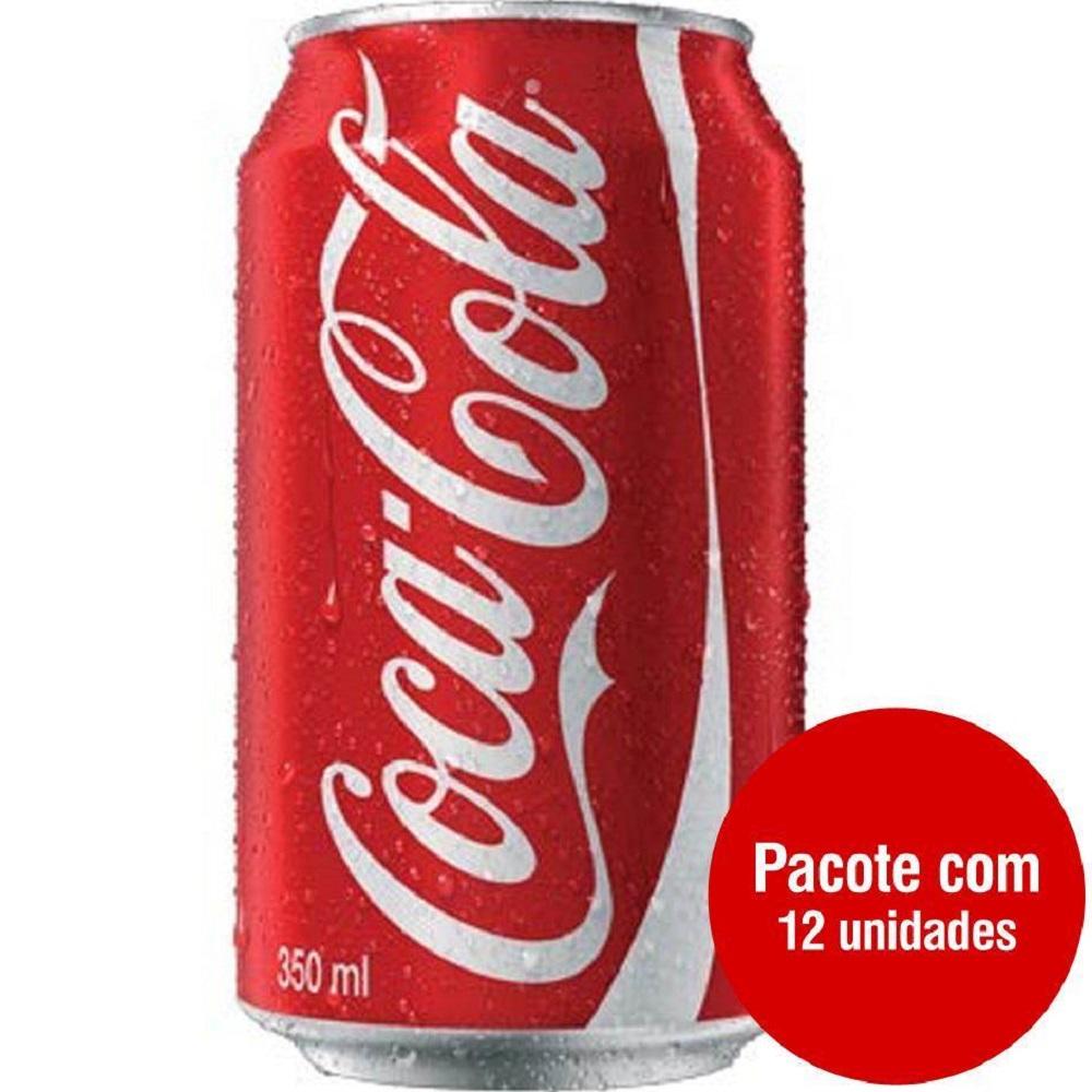 Refrigerante Coca Cola 350ml Lata 12 UN
