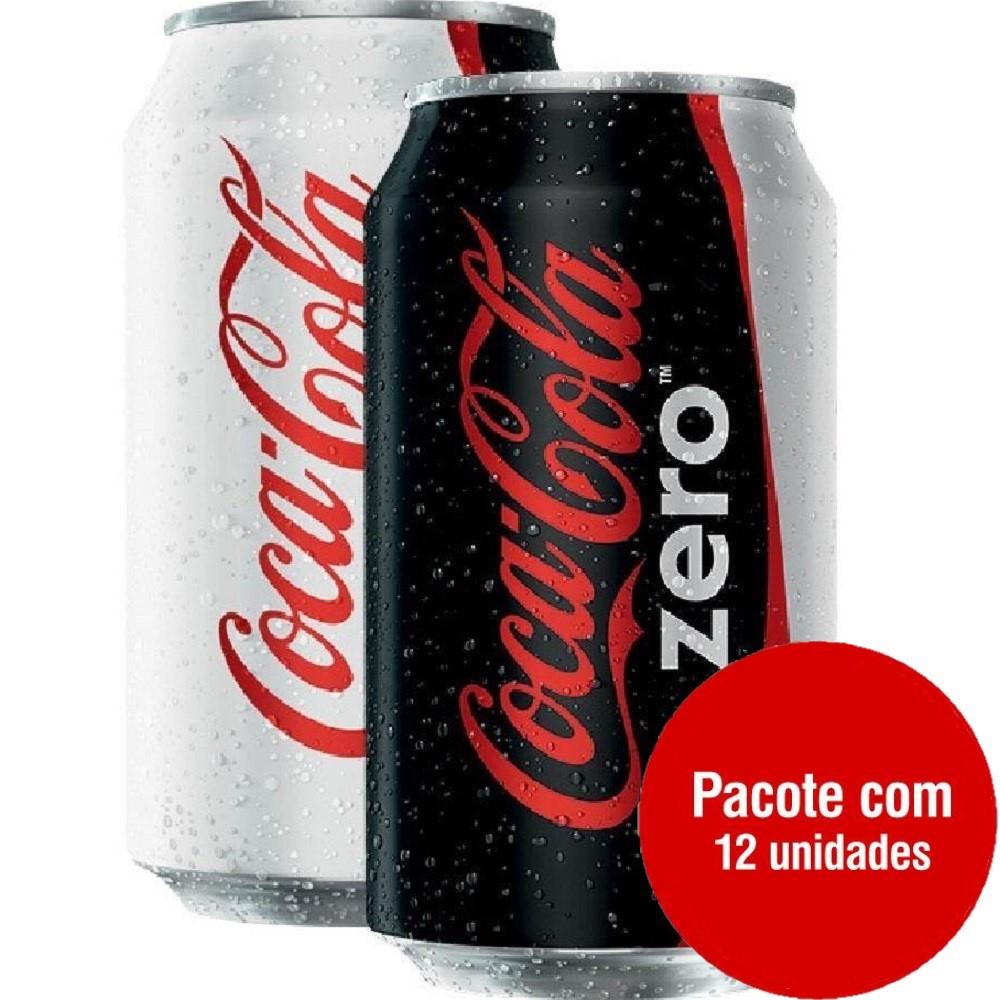 Refrigerante Coca Cola Zero 350ml Lata 12 UN