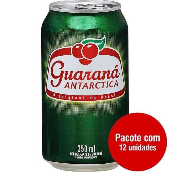 Refrigerante Guaraná Antarctica 350ml Lata 12 UN