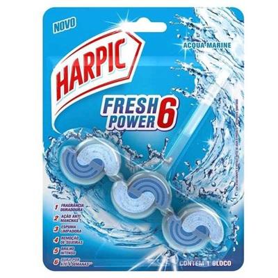 Bloco Sanitário Fresh Power 6 Acqua Marine 1 UN Harpic