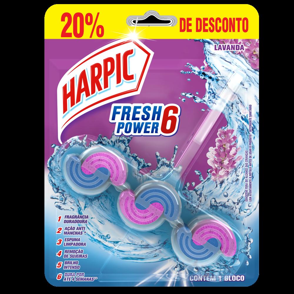 Bloco Sanitário Fresh Power 6 Lavanda com 20% de Desconto 1 UN Harpic