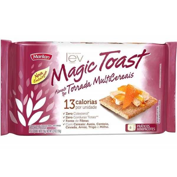 Torrada Magic Toast Multicereais 150g  1 UN Marilan