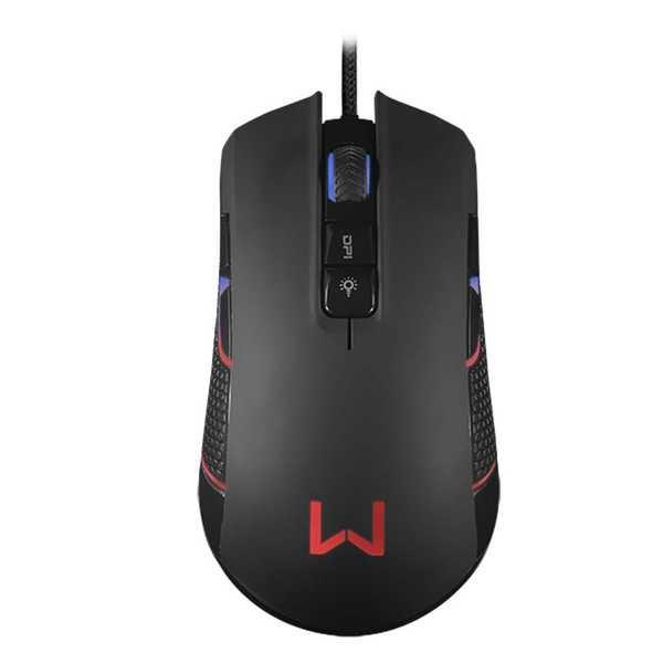 Mouse Gamer Warrior Perseus RGB Macro 4000DPI Preto MO275 1 UN Multilaser