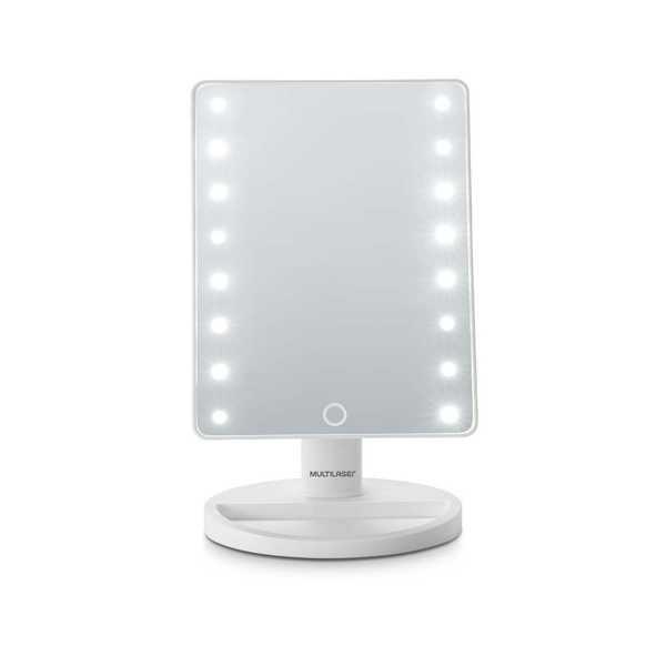 Espelho de Mesa com LED Branco 1 UN Multilaser