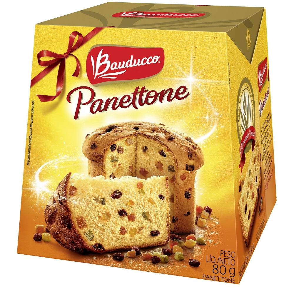 Mini Panettone Frutas 80g 1 UN Bauducco