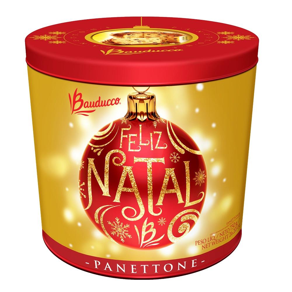 Panettone Fruta Lata Decorativa 750g 1 UN Bauducco