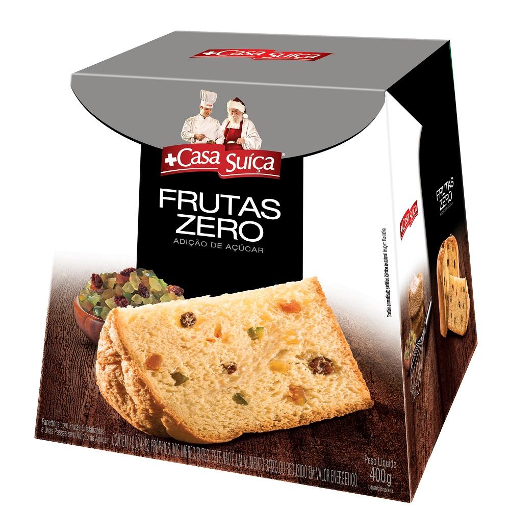Panettone Frutas Zero Açúcar 400g 1 UN Casa Suíça