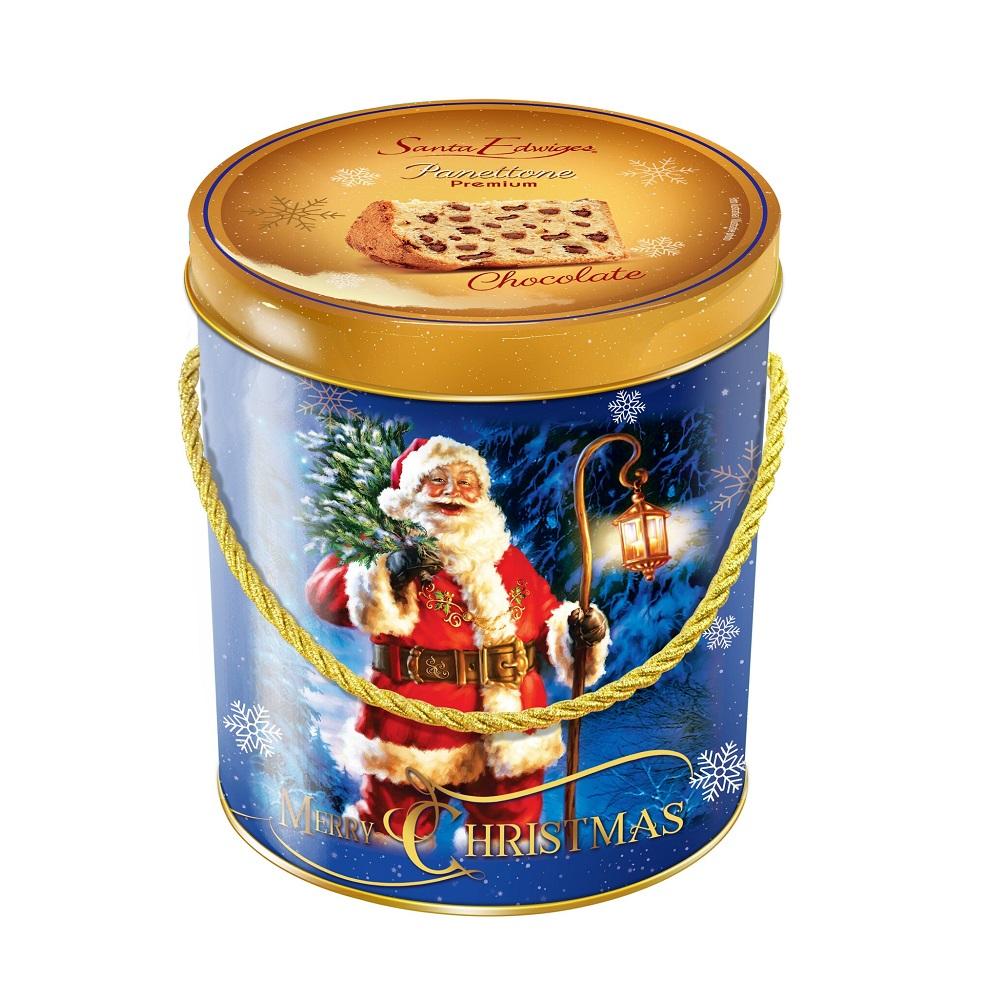 Panettone Chocolate Lata Decorativa 400g Santa Edwiges