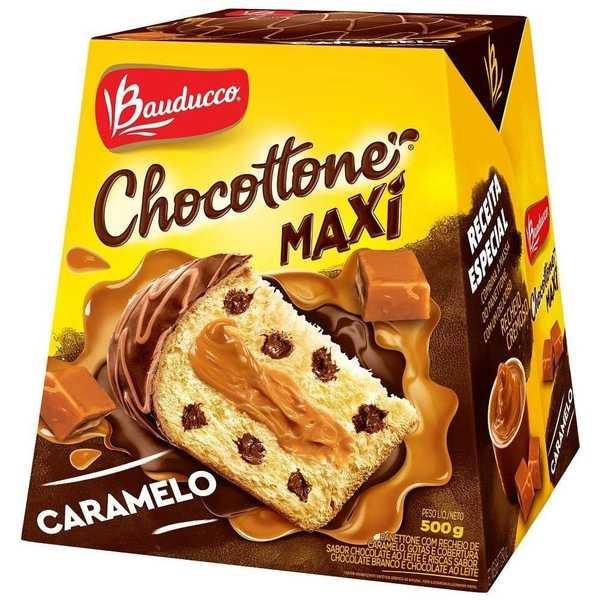 Chocottone Maxi Caramelo 500g 1 UN Bauducco