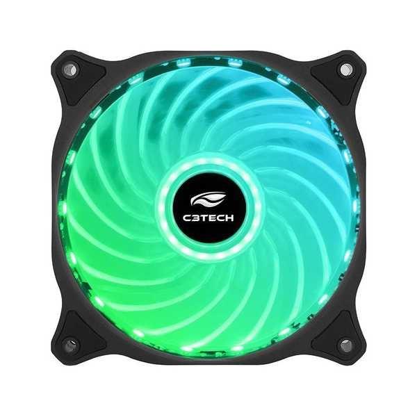 Cooler Fan Gamer Storm Led F7-L100RD Preto C3Tech