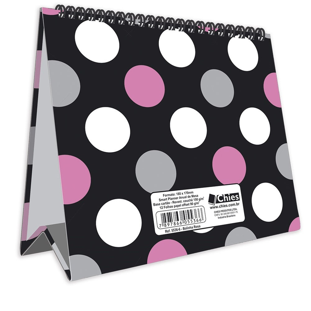 Planner Anual 2020 Bolinha 12 FL Chies