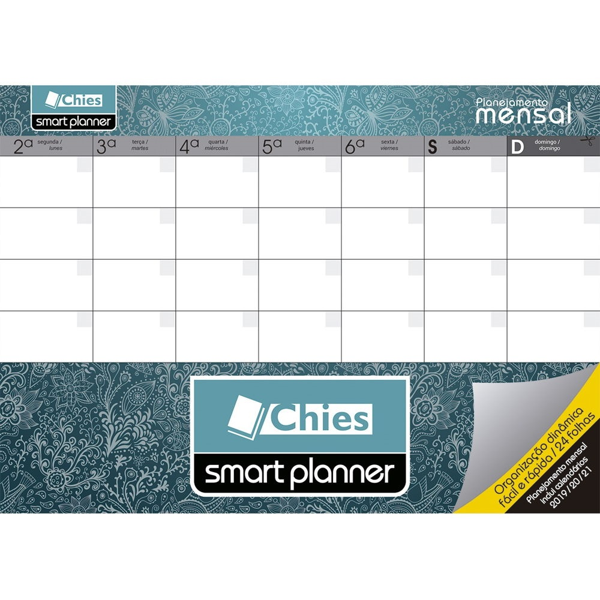 Planner Permanente Mensal Tropical A4 24 FL Chies