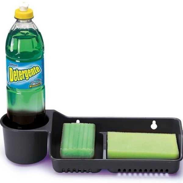 Porta Detergente 3 em 1 Cores Sortidas 1 UN Nitron