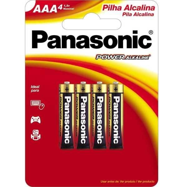Pilha Alcalina Palito AAA Power 4 UN Panasonic
