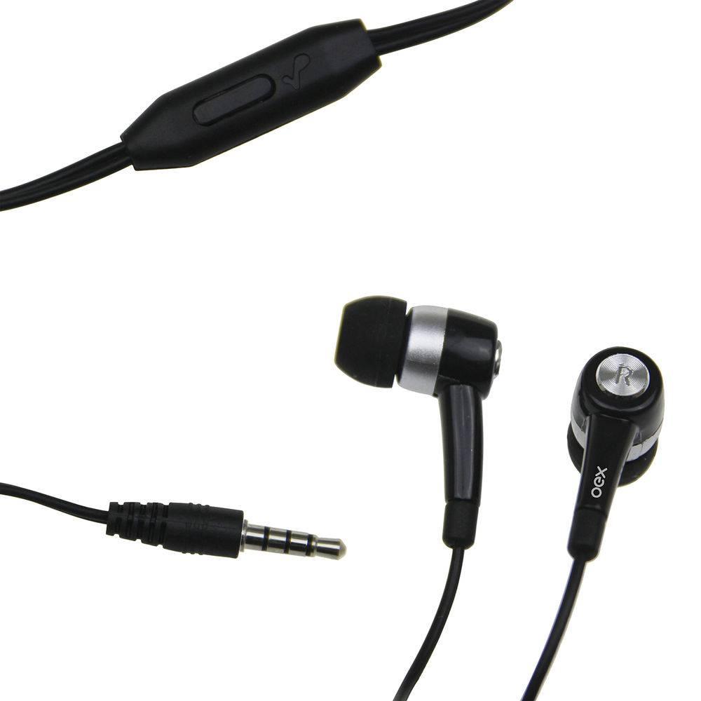 Fone de Ouvido Spark com Microfone Preto FN205 1 UN OEX
