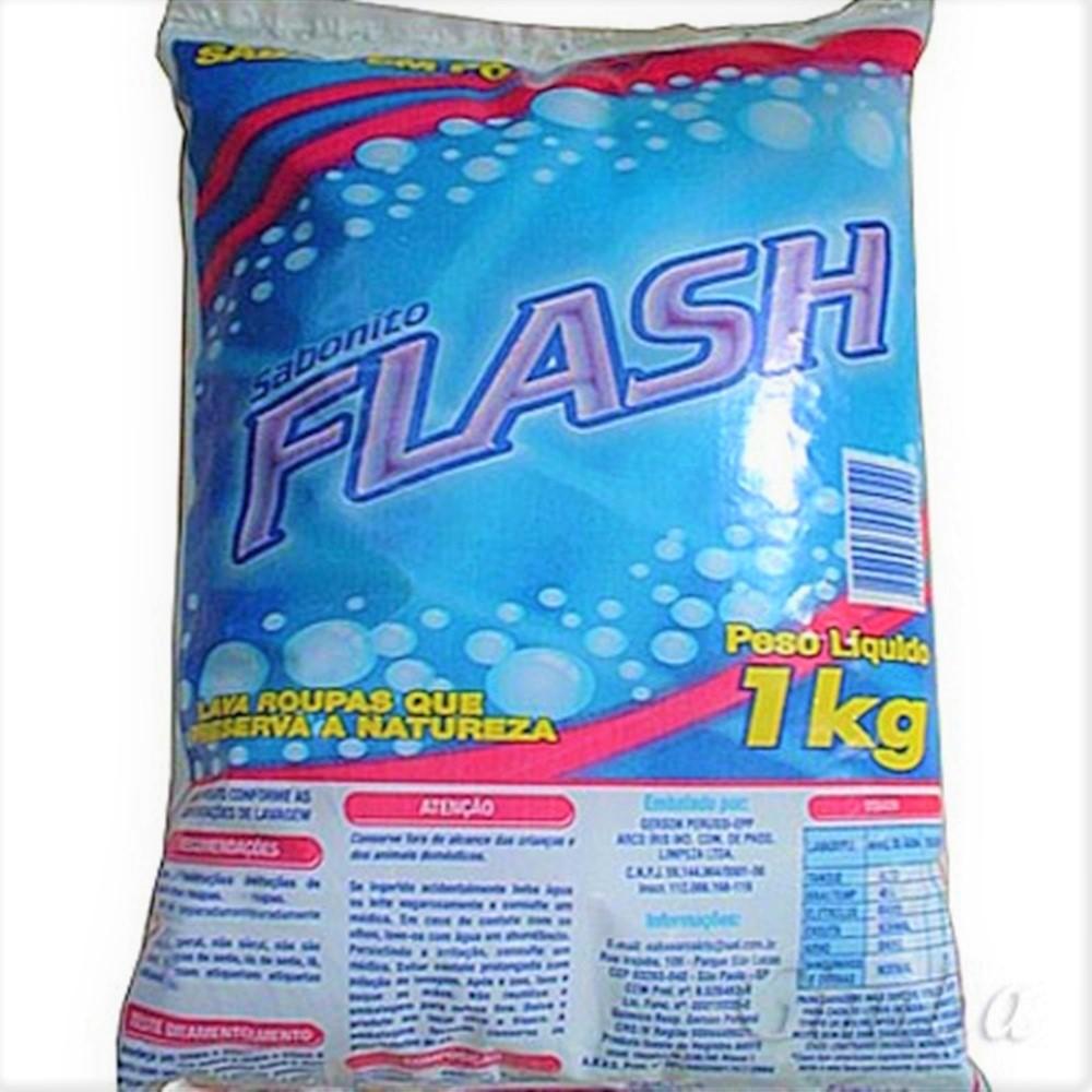 Detergente em Pó 1Kg 1 UN Flash