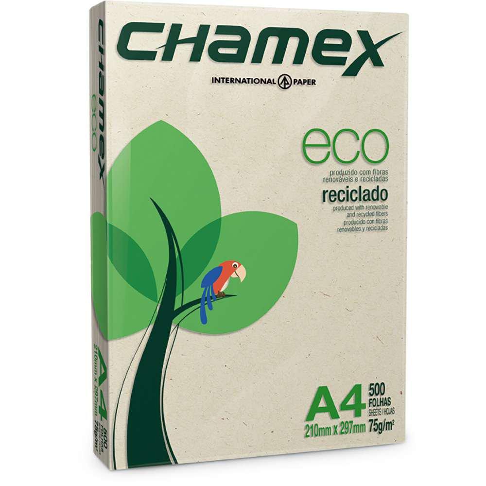 Papel Sulfite A4 Reciclado Eco 210x297mm 75g PT 500 FL Chamex
