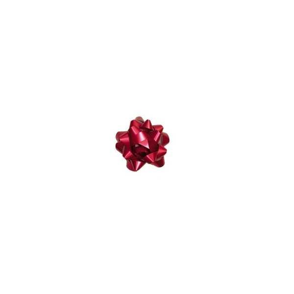 Laço pronto Adesivado Estrela Vermelho 5cm 1730217 4 UN Cromus