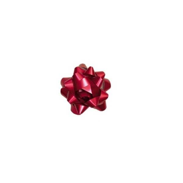 Laço pronto Adesivado Estrela Vermelho 7,5cm 1730224 3 UN Cromus