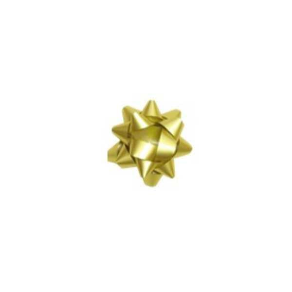 Laço pronto Adesivado Estrela Ouro 7,5cm 1730228 3 UN Cromus