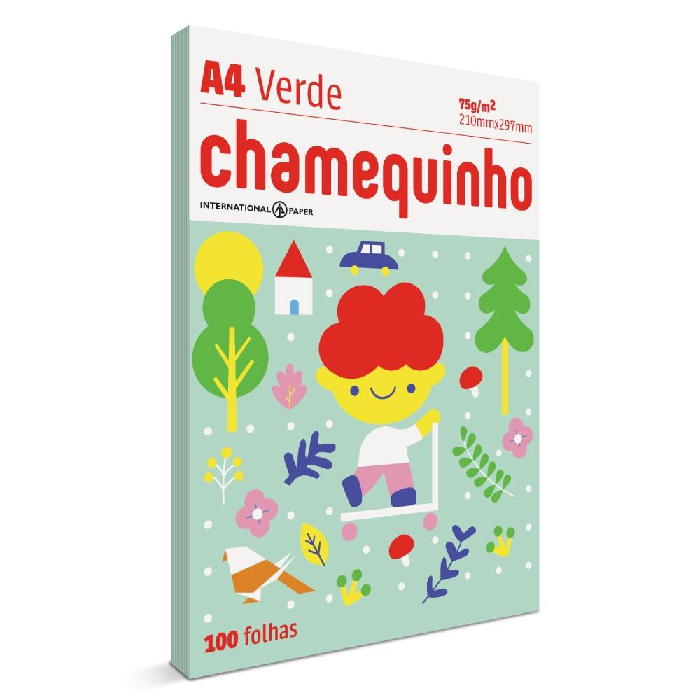 Papel Sulfite Chamequinho Verde 75gr A4 21x29,7cm 100 FL Chamex