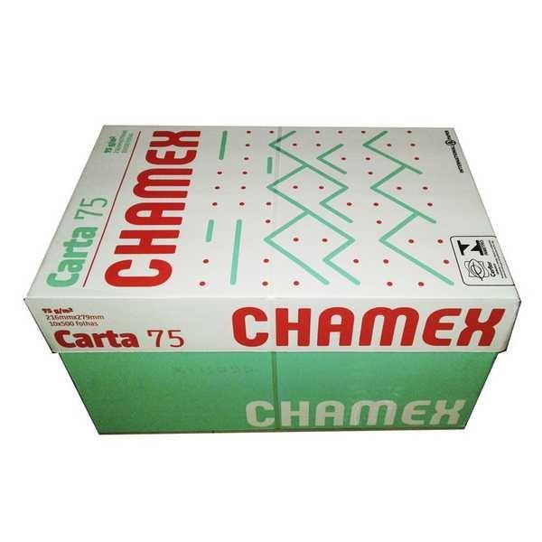 Papel Sulfite Carta Branco 216x279mm 75g CX 5000 FL Chamex