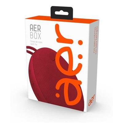 Caixa de Som Aerbox sem fio AER By Vermelho 1 UN Geonav