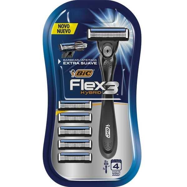 Aparelho de Barbear Flex 3 Hybrid Bic
