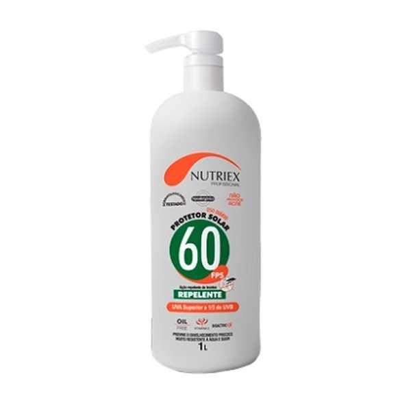 Protetor Solar FPS 60+ Repelente Dosador 1L 1 UN Nutriex