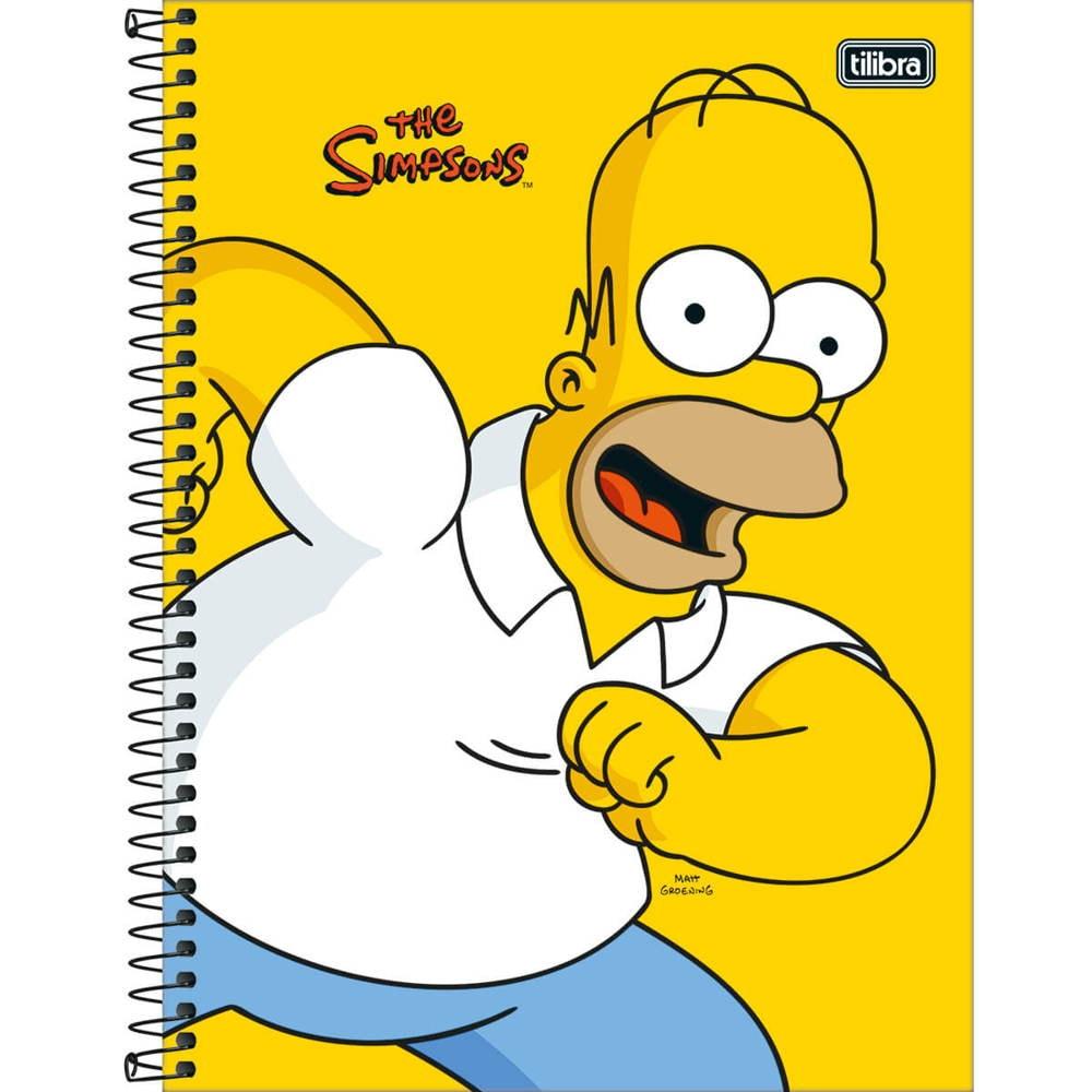 Caderno Universitário Capa Dura 80 FL Simpsons C 1 UN Tilibra